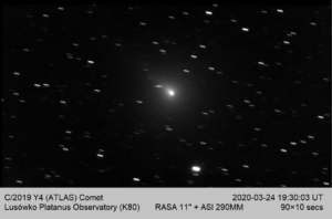 Noc komety C/2019 Y4 (ATLAS)